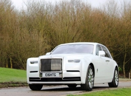 White Rolls Royce for weddings in London
